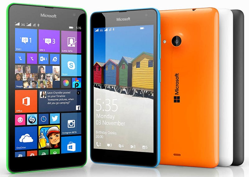 "مواصفات هاتف نوكيا لوميا 535 من مايكروسوفت رسمياً "" 5x5x5 "" بشريحتين"