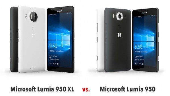 مقارنة بين لوميا 950 ولوميا 950xl