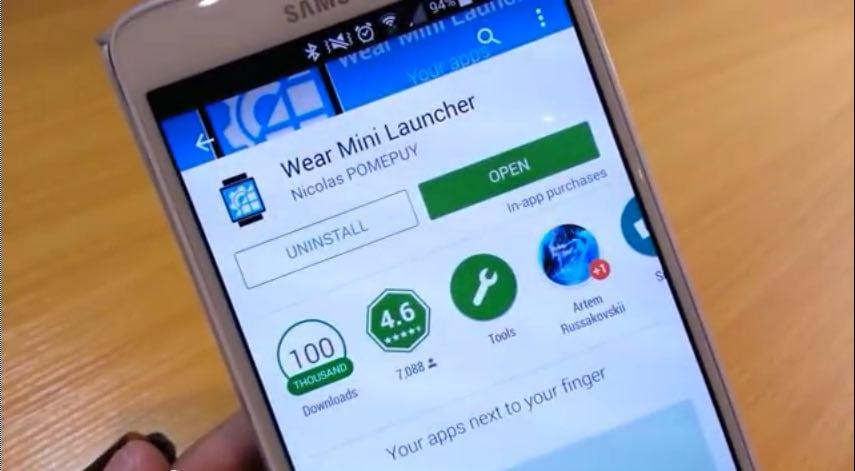تسريع نظم أندرويد وير علي الساعات الذكية مع تطبيق Wear Mini Launcher