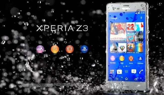 سونى z3 يوتيوب : اول ثلاث اشرطة فيديو ترويجية لهاتف سونى Xperia Z3