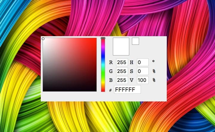 معرفة كود rgb وhex لتحديد درجة اللون