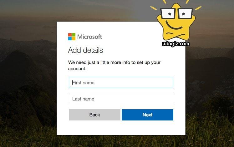 حساب مايكروسوفت جاهز