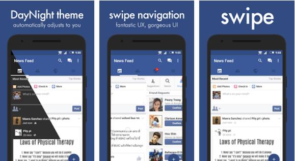 بديل تطبيق الفيس بوك للاندرويد Swipe for Facebook