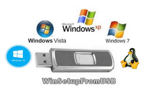 حرق أكثر من ويندوز على فلاشة واحدة مع برنامج WinSetupFromUSB