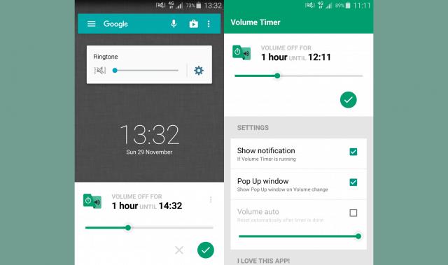 تطبيق Volume Timer التحويل بين الوضع الصامت والعام والعكس تلقائياً للاندرويد