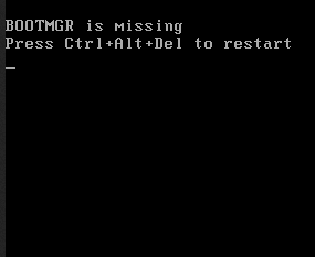 حل مشكلة عدم عمل الوندوز وظهور رسالة bootmgr is missing