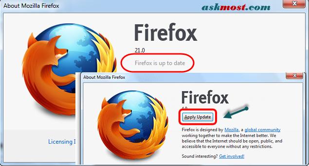طريقة تحديث فايرفوكس - update firefox mozilla with latest version