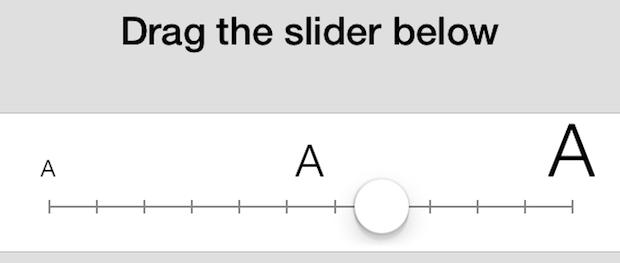 طريقة تكبير الخط في الايفون بدون جيلبريك