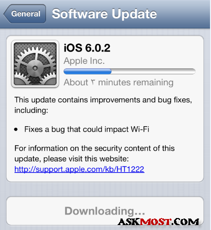 update ios 6.0.2 -2