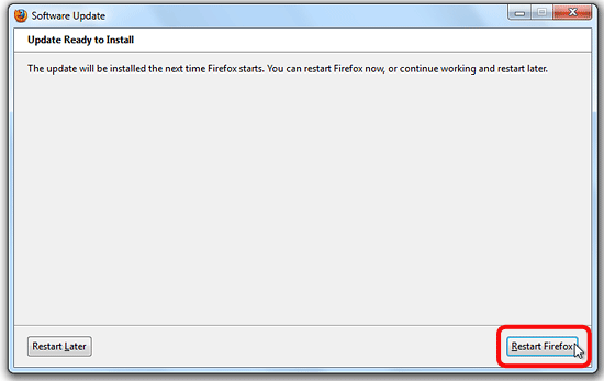 تحديث فايرفوكس -3