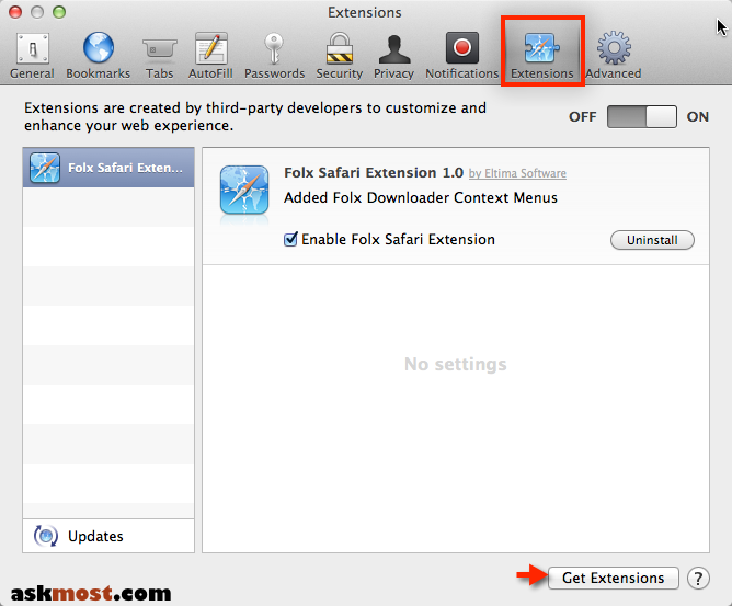 how to add chromecast extension on safari