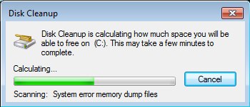 disk cleanup windows 7-٢