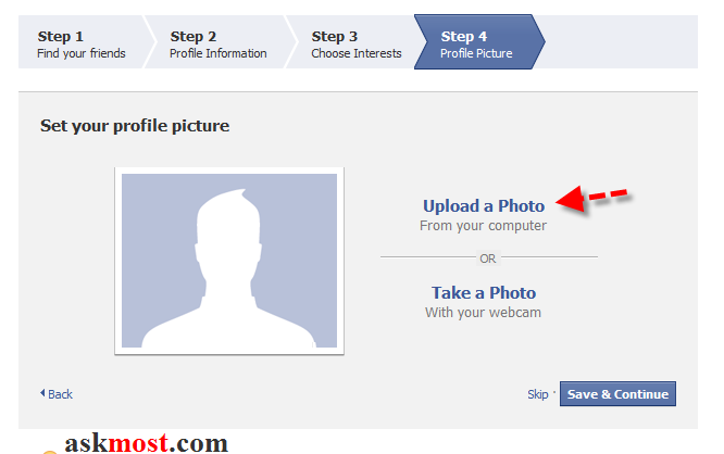 التسجيل فى الفيس بوك الجديد