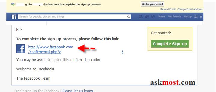 التسجيل فى الفيس بوك مكتوب