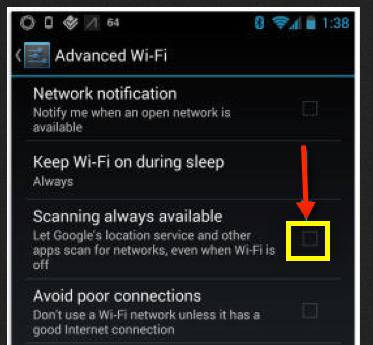 Android 4.3  Wi-Fi networks