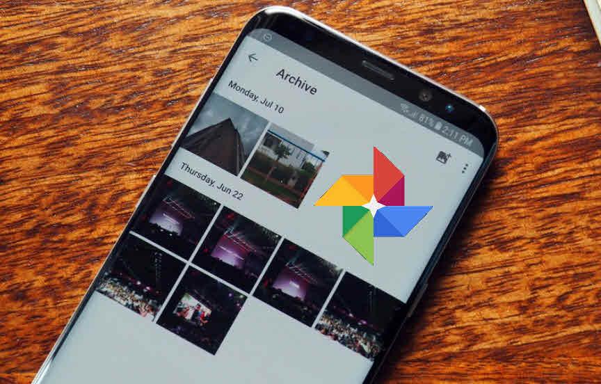 ما هى ميزة الارشيف فى تطبيق صور جوجل