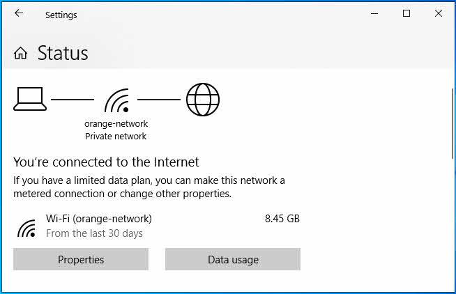 كيفية معرفة استهلاك الانترنت في ويندوز 10