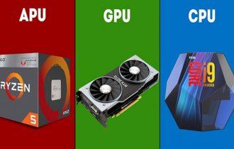 ما الفرق بين معالجات APU و المعالجات المركزية CPU ومعالجات الرسوميات GPU