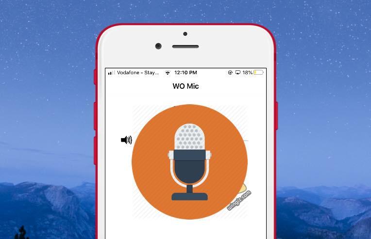 تحويل الهاتف الى ميكروفون للكمبيوتر مجانًا برنامج WO Mic