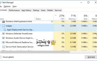 ما هي خدمة wsappx ولماذا تستخدم موارد المعالج بشكل كبير