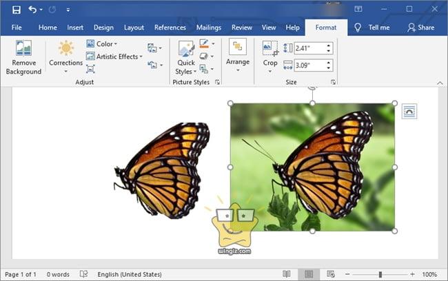 شرح كيفية إزالة خلفية الصورة في الوورد